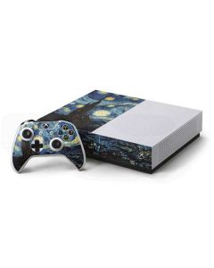 van Gogh - The Starry Night Xbox One S Console and Controller Bundle Skin