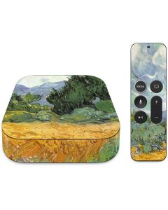 van Gogh - Wheatfield with Cypresses Apple TV Skin