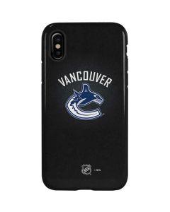 Vancouver Canucks Black Background iPhone XS Pro Case