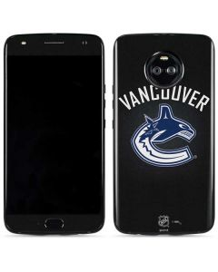 Vancouver Canucks Black Background Moto X4 Skin