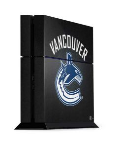Vancouver Canucks Black Background PS4 Console Skin