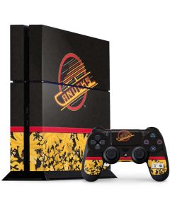 Vancouver Canucks Retro Tropical Print PS4 Console and Controller Bundle Skin