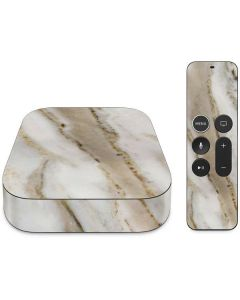 Vanilla Marble Apple TV Skin