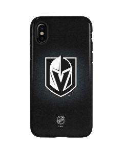 Vegas Golden Knights Black Background iPhone XS Pro Case