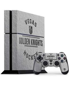 Vegas Golden Knights Black Text PS4 Console and Controller Bundle Skin