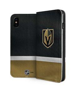 Vegas Golden Knights Jersey iPhone XS Folio Case