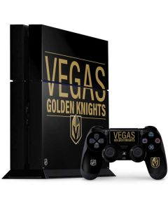 Vegas Golden Knights Lineup PS4 Console and Controller Bundle Skin