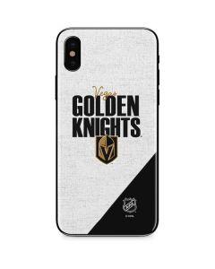 Vegas Golden Knights Script iPhone XS Skin