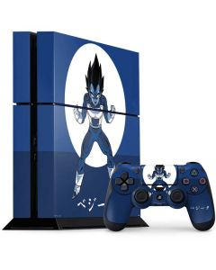 Vegeta Monochrome PS4 Console and Controller Bundle Skin
