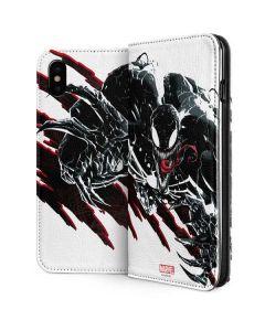 Venom Slashes iPhone XS Folio Case