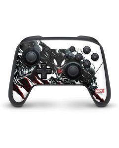 Venom Slashes Nintendo Switch Pro Controller Skin