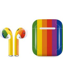 Vertical Rainbow Flag Apple AirPods Skin