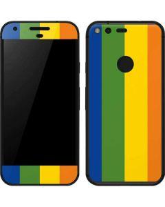 Vertical Rainbow Flag Google Pixel Skin