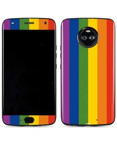 Vertical Rainbow Flag Moto X4 Skin