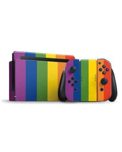 Vertical Rainbow Flag Nintendo Switch Bundle Skin