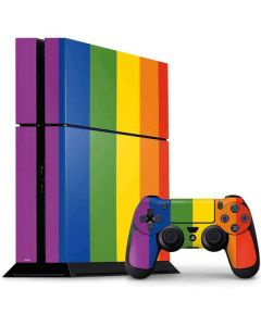 Vertical Rainbow Flag PS4 Console and Controller Bundle Skin