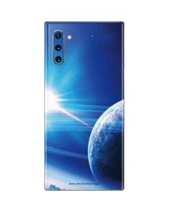 View of a Planet as it Looms in Close Orbit and with Rings Galaxy Note 10 Skin