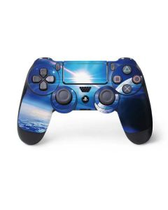 View of a Planet as it Looms in Close Orbit and with Rings PS4 Pro/Slim Controller Skin