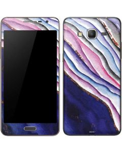 Violet Watercolor Geode Galaxy Grand Prime Skin