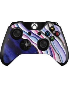Violet Watercolor Geode Xbox One Controller Skin