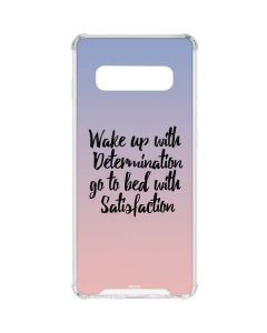 Wake Up With Determination Galaxy S10 Clear Case
