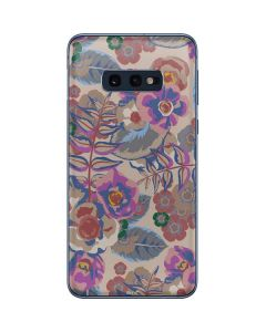 Warm Taupe Floral Galaxy S10e Skin