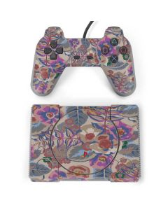 Warm Taupe Floral PlayStation Classic Bundle Skin