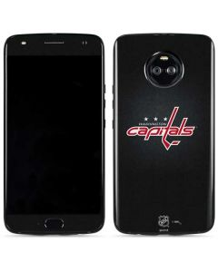 Washington Capitals Black Background Moto X4 Skin