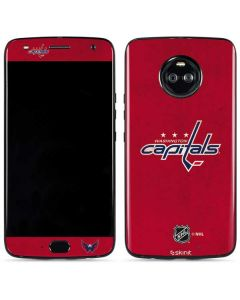 Washington Capitals Distressed Moto X4 Skin