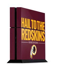 Washington Redskins Team Motto PS4 Console Skin