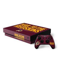 Washington Redskins Team Motto Xbox One X Bundle Skin