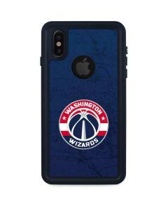 Washington Wizards Blue Distressed iPhone XS Waterproof Case