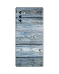 Weathered Blue Wood Galaxy Note 10 Skin