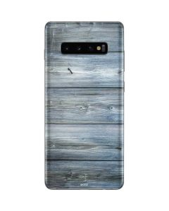 Weathered Blue Wood Galaxy S10 Plus Skin