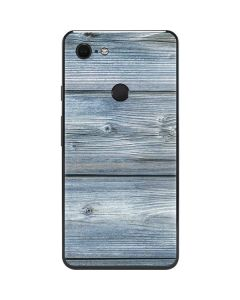 Weathered Blue Wood Google Pixel 3 XL Skin
