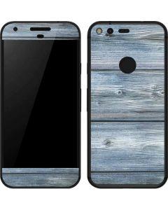 Weathered Blue Wood Google Pixel Skin