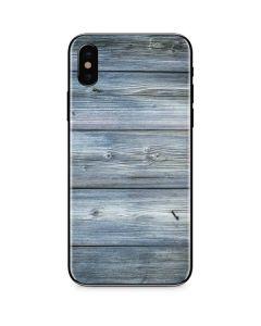 Weathered Blue Wood iPhone X Skin