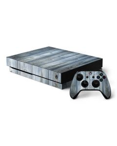 Weathered Blue Wood Xbox One X Bundle Skin