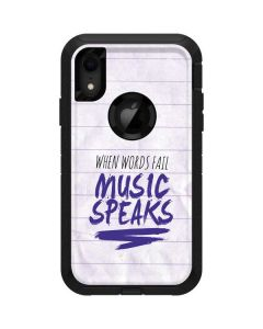 When Words Fail Music Speaks Otterbox Defender iPhone Skin