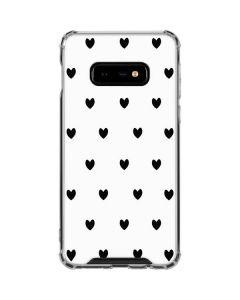 White and Black Hearts Galaxy S10e Clear Case