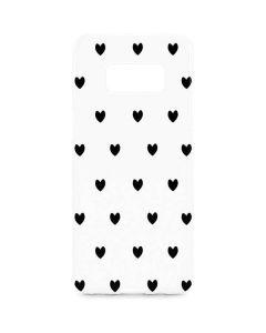 White and Black Hearts Galaxy S8 Plus Lite Case