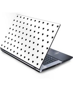 White and Black Hearts Generic Laptop Skin