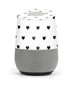 White and Black Hearts Google Home Skin