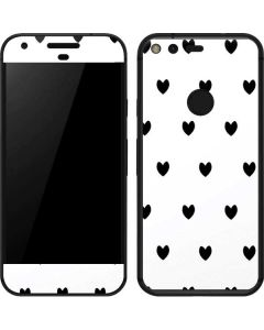 White and Black Hearts Google Pixel Skin