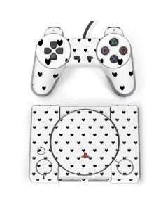 White and Black Hearts PlayStation Classic Bundle Skin