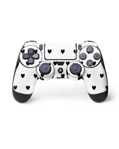 White and Black Hearts PS4 Controller Skin