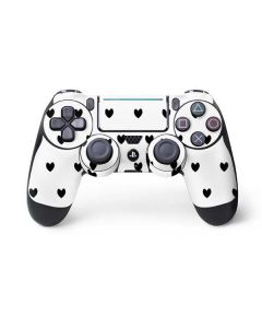 White and Black Hearts PS4 Pro/Slim Controller Skin