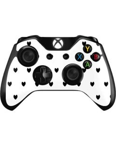 White and Black Hearts Xbox One Controller Skin