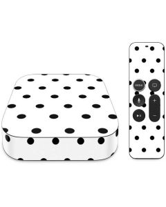 White and Black Polka Dots Apple TV Skin
