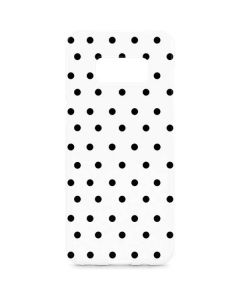 White and Black Polka Dots Galaxy S8 Plus Lite Case